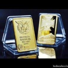 Trofeos y medallas: LINGOTE ALEMANIA NAZI ORO DEUTSCHE REICHSBANK EDICION LIMITADA - CRUZ AGUILA. Lote 243321370