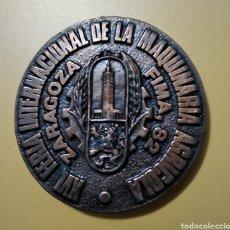 Trofeos y medallas: PLACA CONGRESO IFAJ, ZARAGOZA FIMA 82.. Lote 243437010