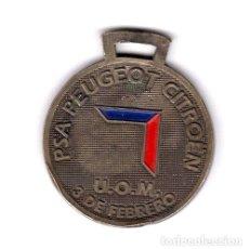 Trofeos y medallas: MEDALLA JORNADAS RECREATIVAS PEUGEOT ANO 2002 3 DE FEBRERO. Lote 244280300
