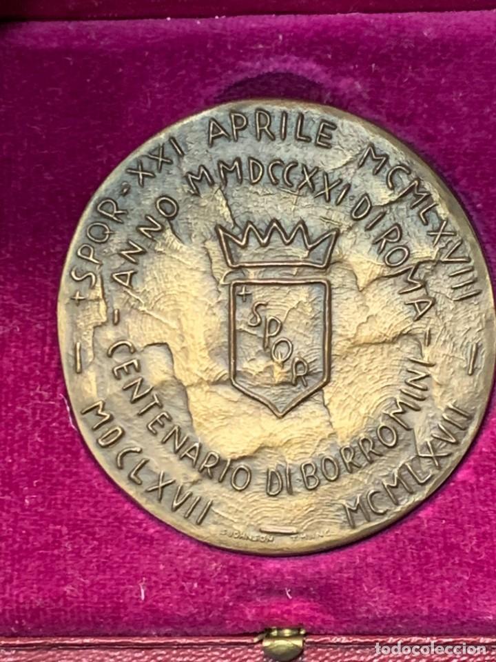 Trofeos y medallas: S.JOHNSON ROMA medalla BRONCE 1968 CENTENARIO BORROMINI SPQR GRECO 5 cms - Foto 3 - 245617540