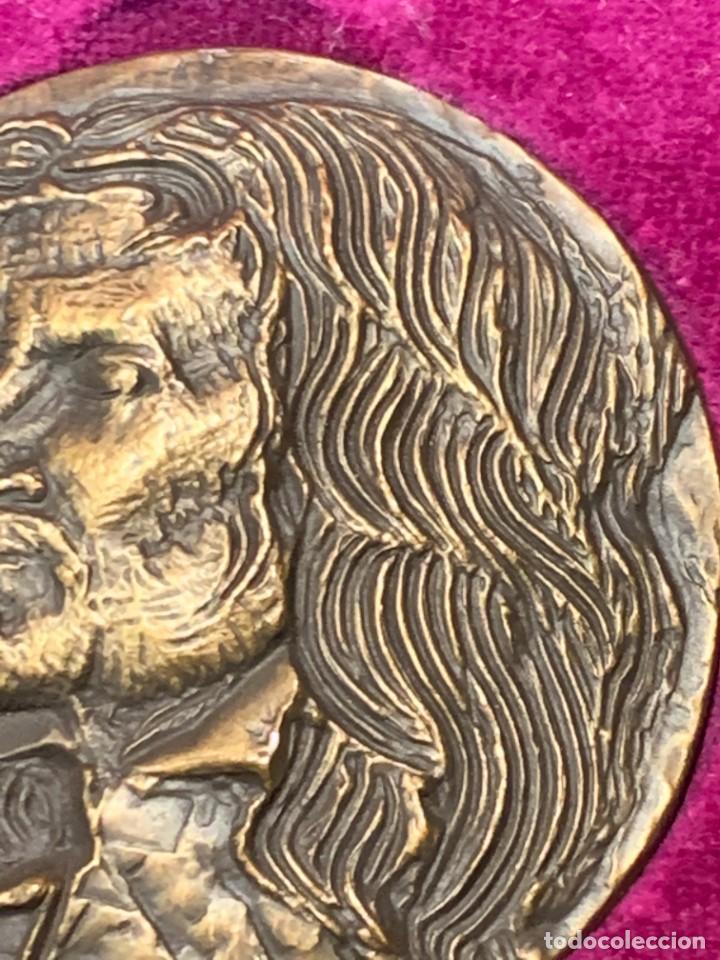Trofeos y medallas: S.JOHNSON ROMA medalla BRONCE 1968 CENTENARIO BORROMINI SPQR GRECO 5 cms - Foto 6 - 245617540