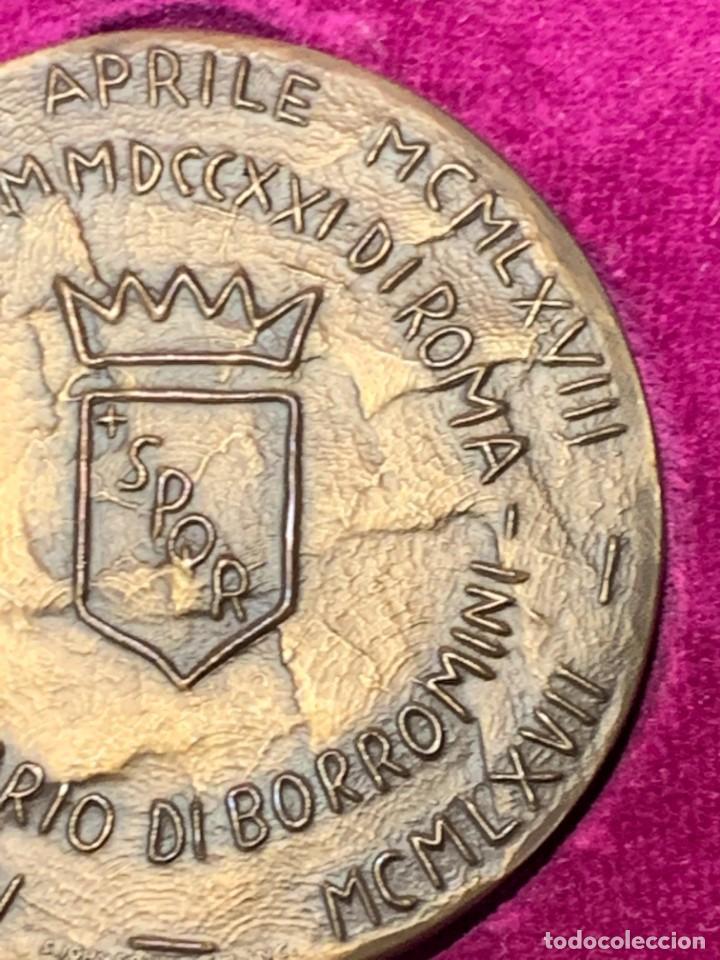 Trofeos y medallas: S.JOHNSON ROMA medalla BRONCE 1968 CENTENARIO BORROMINI SPQR GRECO 5 cms - Foto 8 - 245617540
