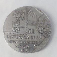 Trofeos y medallas: MEDALLA XII CENTENARIO MEZQUITA DE CORDOBA 785-786-1986 EXFILNA 86. Lote 246142055