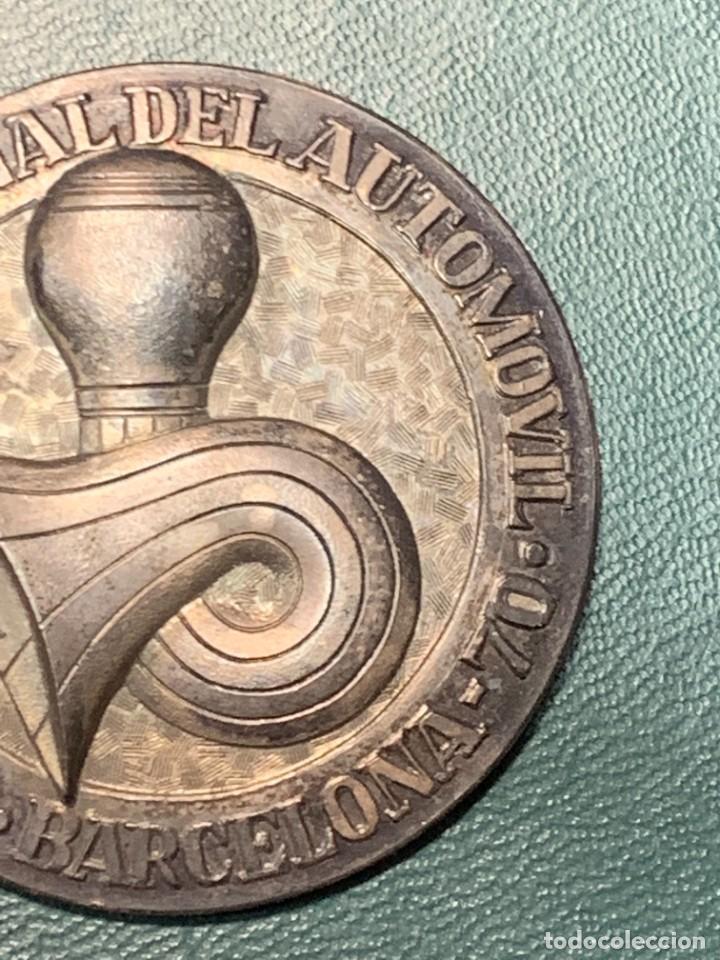 Trofeos y medallas: medalla PLATA 916/000 SALON INTERNACIONAL AUTOMOVIL BARCELONA 1970 ESTUCHE 5 cms - Foto 6 - 246150125
