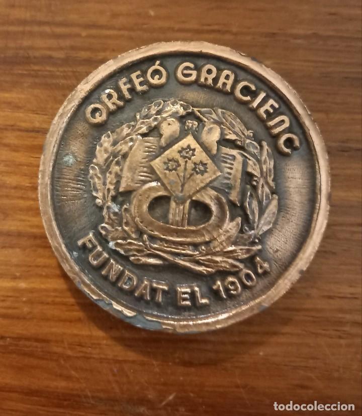 MEDALLA ORFEÓ GRACIENC ASSAMBLEA GENERAL DE 1984 (Numismática - Medallería - Trofeos y Conmemorativas)