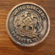 Trofeos y medallas: MEDALLA ORFEÓ GRACIENC ASSAMBLEA GENERAL DE 1984. Lote 246226515