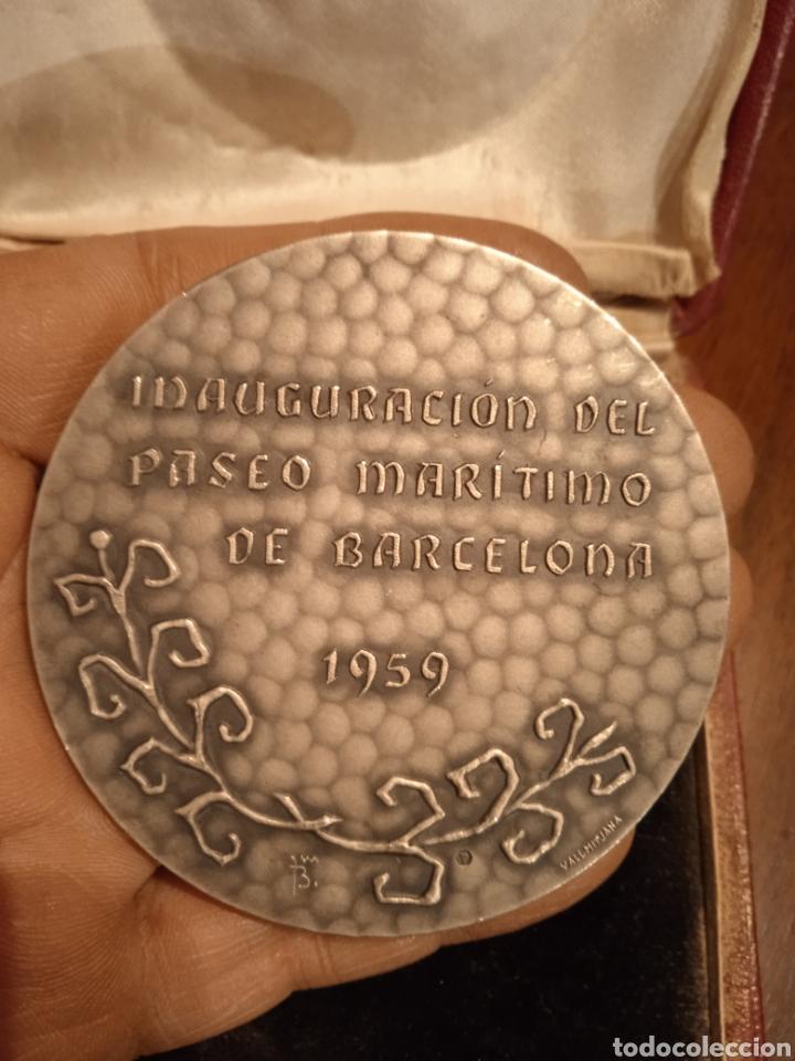 Trofeos y medallas: Medallon Medalla Innaguracion paseo marítimo de Barcelona 1959 firmada plata - Foto 2 - 246564300