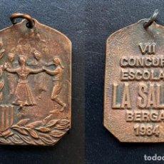 Trofeos y medallas: MEDALLA - VII CONCURS ESCOLAR LA SALLE BERGA - 1984. Lote 246900500