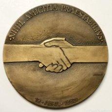 Trofeos y medallas: NUMULITE F0032 MEDALLA HERMANAMIENTO SAN JOSÉ DE COSTA RICA PONTEVEDRA AÑO 1982. DIPUTACION PROVINCI. Lote 248298750