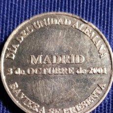 Trofeos y medallas: MEDALLA DÍA UNIFICACIÓN ALEMANA PLATA. Lote 248302770