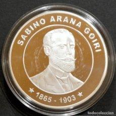 Trofeos y medallas: MEDALLA CONMEMORATIVA SABINO ARANA GOIRI FUNDACIÓN DEL PNV 1895. Lote 248458705