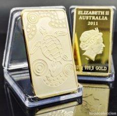 Trofeos y medallas: LINGOTE DE ORO DE 24 K ( REINA ELIZABETH 2 AUSTRALIA 2011). Lote 249180580