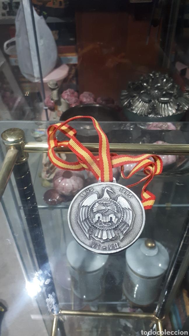 CURIOSA MEDALLA CONMEMORATIVA ACADEMIA JOSE ANTONIO 1945 - 1995 (Numismática - Medallería - Trofeos y Conmemorativas)