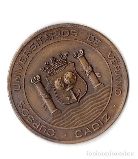 Trofeos y medallas: MEDALLA HOMENAJE A JOSE MARIA PEMAN 1974. CURSO UNIVERSITARIOS DE VERANO CADIZ - Foto 2 - 254180570