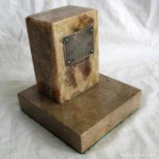 Trofeos y medallas: XII ANIVERSARIO APERTURA CANTERA ARGANDA 1964-1976, CHAPA PLATA, MÁRMOL Y CALIZA. Lote 254910585