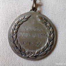 Trofeos y medallas: E.R.Z; MEDALLA I CONCURSO SOCIAL DE ARTE; AÑO 1967. Lote 257502720