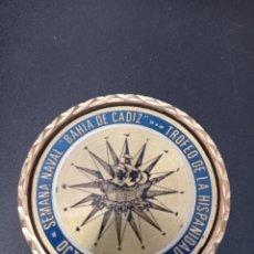 Trofeos y medallas: MEDALLA SEMANA NAVAL , BAHIA DE CADIZ , TROFEO DE LA HISPANIDAD , 1987. Lote 258167760