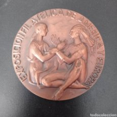 Trofeos y medallas: MEDALLA EXPOSICION FILATELICA DE AMERICA Y EUROPA . ESPAMER 1980 , MADRID. Lote 258176545