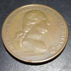 Trofeos y medallas: MEDALLA BICENTENARIO INDEPENDENCIA ESTADOS UNIDO AMERICAN REVOLUTION BECENTENNIAL ,GEORGE WASHINGTON. Lote 258782555