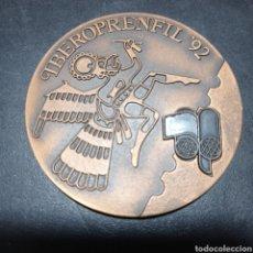Trofeos y medallas: MEDALLA EXPOSICION IBERO AMERICANA DE LITERATURA Y PRENSA FILATELICA ,BUENOS AIRES 1992 , IBEROPRENF. Lote 258783985
