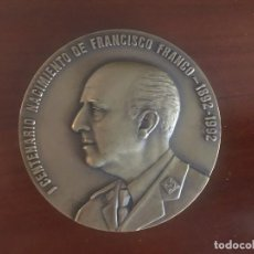 Trofei e Medaglie: MEDALLÓN HERMANDAD DE DEFENSORES DE OVIEDO CONMEMORATIVO I CENTENARIO NACIMIENTO FRANCISCO FRANCO. Lote 260457580