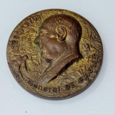 Trofeos y medallas: MEDALLA. GENERAL DE GAULLE 189 - 1970. Lote 261807930
