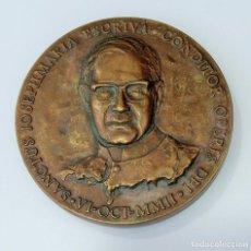 Trofeos y medallas: MEDALLA CONMEMORATIVA. SANCTUS JOSEPHMARIA ESCRIVA, CONDITOR OPERIS DEI 6 OCT 2002. Lote 261813950