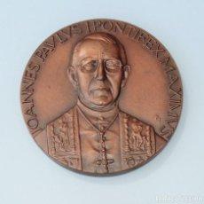 Trofeos y medallas: MEDALLA CONMEMORATIVA. JOANNES PAULUS I PONTIFEX MAXIMUS. Lote 261814635