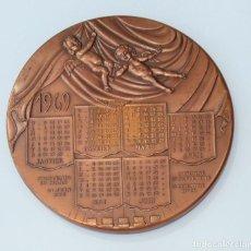 Trofeos y medallas: MEDALLA CONMEMORATIVA. CALENDARIO 1969. Lote 261822470