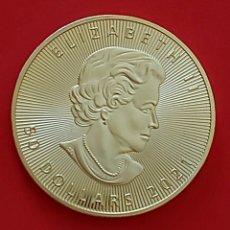 Trofeos y medallas: MONEDA DE ORO 24 K, ELIZABETH - 2020, CANADA 40×3MM 30GR ALTA CALIDAD. Lote 262136645