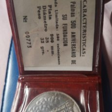 Trofeos y medallas: MEDALLA LAS PALMAS 500 ANIVERSARIO DE SU FUNDACIÓN PLATA. Lote 262271810