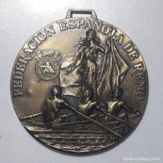 Trofeos y medallas: MEDALLA FEDERACION ESPAÑOLA DE REMO. Lote 262298255