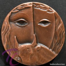 Trofeos y medallas: MEDALLA EN BRONCE PREMIO FOTOGRAFIA RAMON FERRAN 1989 REUS TARRAGONA. Lote 263158435