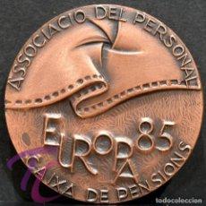 Trofeos y medallas: MEDALLA EN BRONCE PREMIO FOTOGRAFIA RAMON FERRAN 1985 REUS TARRAGONA. Lote 263159210