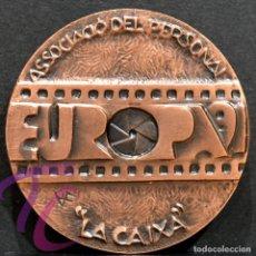 Trofeos y medallas: MEDALLA EN BRONCE PREMIO FOTOGRAFIA RAMON FERRAN 1991 REUS TARRAGONA. Lote 263174030