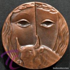 Trofeos y medallas: MEDALLA EN BRONCE PREMIO FOTOGRAFIA RAMON FERRAN 1989 REUS TARRAGONA. Lote 263174990