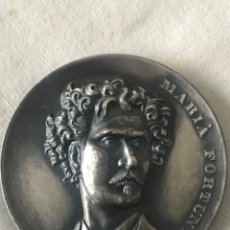 Trofeos y medallas: MEDALLA MARIÀ FORTUNY, DE PUJOL - EL PINTOR QUE DEIXÀ LA FAMA AL MON I EL COR A REUS 1838-1874. Lote 263881710