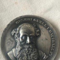 Trofeos y medallas: EUSEBI GUELL 1846-1918 CINQUENTENARI DE LA SEVA MORT. BARCELONA 1968.. Lote 263882410