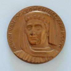 Trofeos y medallas: MEDALLA CONMEMORATIVA. JEHAN VAN OCKEGHEM. Lote 264199888