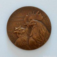 Trofeos y medallas: MEDALLA CONMEMORATIVA. SOCIETE NATIONALE D'AVICULTURE DE FRANCE. Lote 264202132
