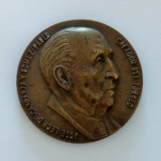 Trofeos y medallas: MEDALLA CONMEMORATIVA. JOSE LEON DE CARRANZA Y GOMEZ-PABLO CREADOR DEL TORNEO. CÁDIZ 1969. Lote 264203468