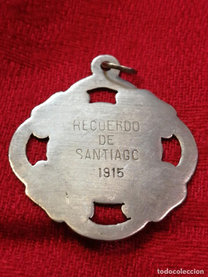 Trofeos y medallas: MEDALLA DE 1915 – RECUERDO DE SANTIAGO DE COMPOSTELA (Galicia) - Foto 2 - 264251500