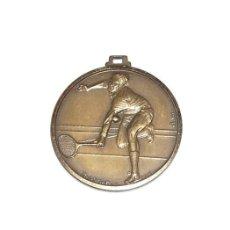 Trofeos y medallas: ANTIGUA MEDALLA DE BRONCE DE TENIS - 1983 - ENHER. Lote 264817124