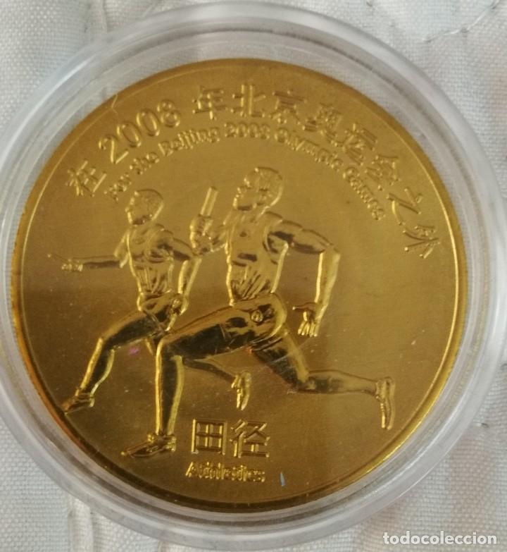 MEDALLA OLIMPICA BEIJING CHINA 2008 CALIDAD PROOF..GRAN TAMAÑO (Numismática - Medallería - Trofeos y Conmemorativas)