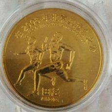 Trofeos y medallas: MEDALLA OLIMPICA BEIJING CHINA 2008 CALIDAD PROOF..GRAN TAMAÑO. Lote 265501519