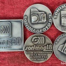 Troféus e medalhas: 5 MEDALLAS DE PLATA. SONIMAG Y SONIMAGFOTO. PUJOL. SIGLO XX.. Lote 268260714