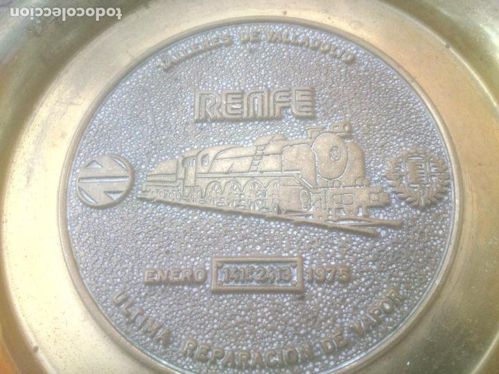 Trofeos y medallas: RENFE FIN DE LA TRACCION VAPOR TALLER CENTRAL DE REPARACION VALLADOLID - Foto 2 - 268444894