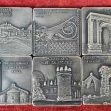 Trofeos y medallas: 10 MEDALLAS DE METAL PLATEADO. SALON DEL TURISMO EN CATALUÑA. SIGLO XX.. Lote 268611989