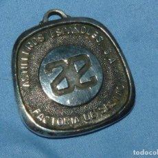 Trofeos y medallas: ESCASA MEDALLA ASTILLEROS ESPAÑOLES S.A. FACTORÍA DE SESTAO NOVIEMBRE 1971 MES DE LA SEGURIDAD. Lote 268997074