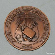 Trofeos y medallas: ANTIGUA MEDALLA EN COBRE BOLSA OFICIAL DE COMERCIO DE VALENCIA AÑO 1980. Lote 269144478